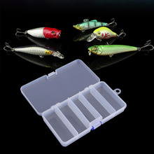 Transparent Plastic Fishing Lure Bait Box Storage Organizer Container Case Popular Hot Sale High Quality(China)