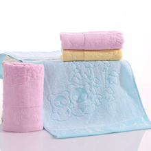 Limit buy 34*74cm Bamboo Fiber Thicken Face Towels with Panda Pattern Soft Absorbent Face Towels Quickly Dry(China)
