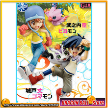 """Digimon"" Original MegaHouse G.E.M. Series Complete Figure - Sora Takenouchi & Piyomon + Joe Kido & Gomamon"