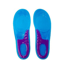 1 pair Massaging silicone gel Insoles sport shoes shock absorption anti slip shoes pad sweat absorbing basketball 2pieces=1pair