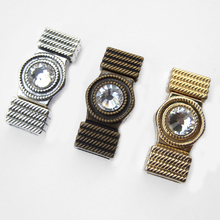 3 Sets Rhinestone Magnetic Clasp 10x2mm For Flat Leather Cord 5mm 10mm Jewelry Accessories(China)