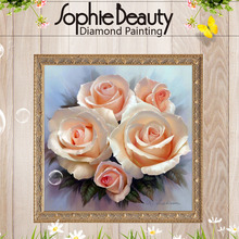 New Beauty Flower Rose Diamond Embroidery Diy Diamond Painting Cross Stitch Picture Of Rhinestones Full Square Diamond Mosaic