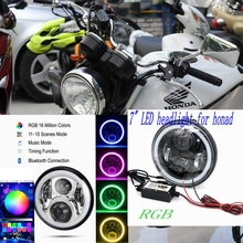RGB Bluetooth App Control  Motorcycle Led bulbs front headlights motorcycle head light For honda CB400 VTEC VTR250 Hornet