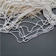 sterling silver ball chain 1.2mm wide stainless steel ball chain 5 meters per lot free shipping