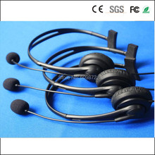 Linhuipad Low Cost  over-the-ear headphones ,2.5MM Jack plug , l.2M cord, hospital, trains , buses call center headsets