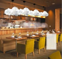 LA MIU Creative floating white clouds, home decoration, the clouds light KTV bar restaurant Art Pendant chandelier