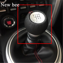 Newbee 12mm Car Styling 5 / 6 Speed Gear Shift Knob Shifter Stick Handball TRD Emblem For Toyota Lexus IS2005 Celica Aygo Supra(China)