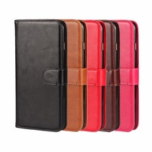 Newest Crazy Horse Pattern Leather Wallet Case for IPhone 6s 4.7inch Cell Phone Combination Flip Cover / Oil Skin with Clasp(China)