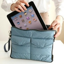 "10.1"" Universal Portable Soft Tablet Bag Fashion Storage Laptop Liner Sleeve Zipper Hand Bag Tablet Protective Pouch Case(China)"