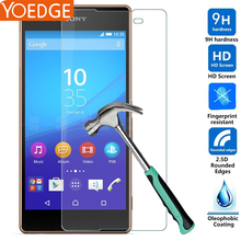 Tempered Glass  Front Protective Film For Sony Xperia Z Z1 Z2 Z3 Z4 Z5 Compact C3 C4 C5 M2 M4 Aqua CASE Cover