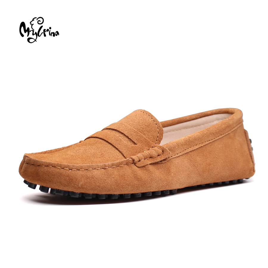 MYLRINA 2017 Men loafers moccasins driving shoes men flats shoes genuine leather casual shoes 8 colors size 38-44 plus size<br>