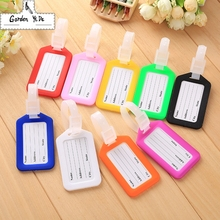 2Pcs 9 Candy colors Travel Accessories Luggage Tag Creative Solid Hard PVC Plastic Aircraft Baggage Claim Tag