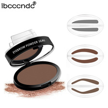 2017 Newest 6g Eyebrow Powder Seal Waterproof Eyebrow Stamp Eyebrow Shadow Set Natural Shape Brow Stamp Powder Palette Delicated