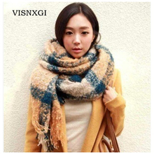 New Scarves HOT Fashion autumn winter scarf women Warm Knit Neck Wool Blend Cowl Ring Long Scarf Shawl Wrap