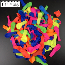 100pcs/lot No3 Small Balloons Water Bombs Colorful Inflatable Apple Balls Water Balloons Toys Children's Birthday Party Supplies