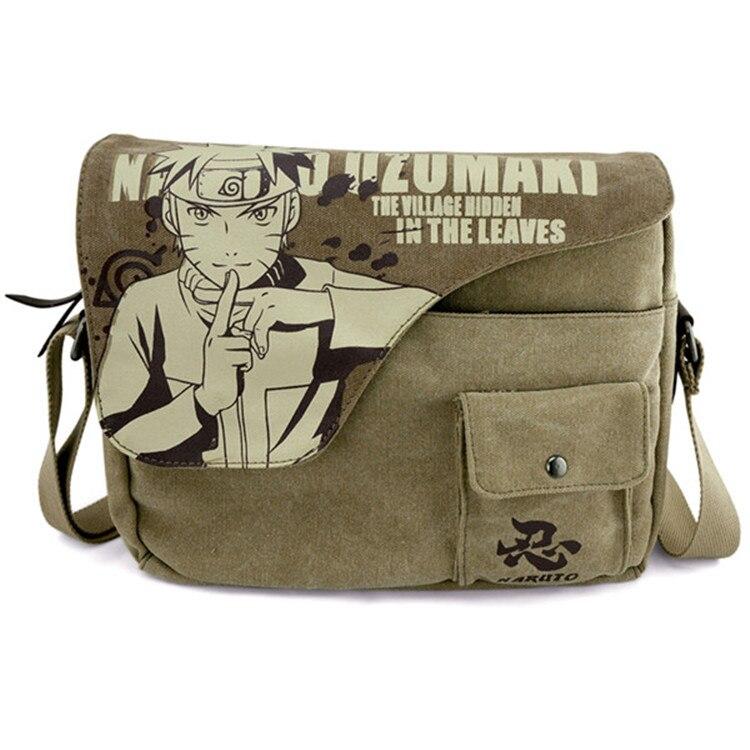 2017 Anime Naruto Sasuke Messenger Bag School Bag For Students Kids Children Teenager Canvas Bags Men shoulder bags <br><br>Aliexpress