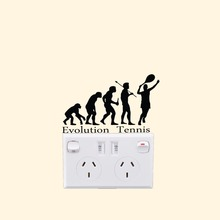 TENNIS EVOLUTION  Vinyl Decal Switch Sticker Creative Home Decoration Wall Stickers A2153
