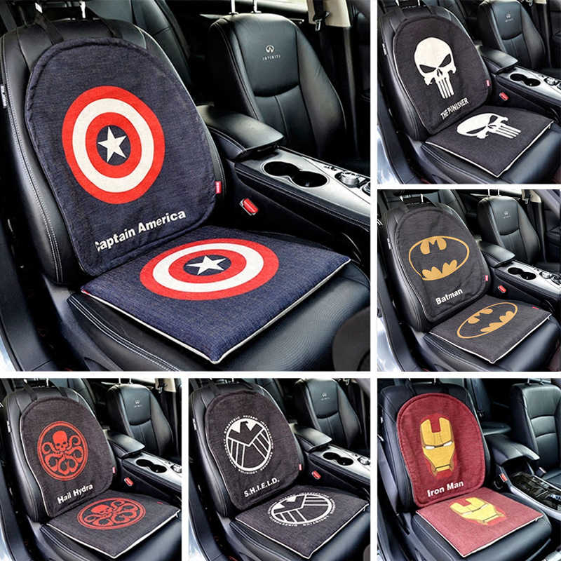 Detail Feedback Questions About Marvel Cartoon The Avengers Batman Captain Car Seat Cover Universal Protector Mat Auto Cushion Set Interior Accessories
