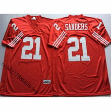 Mens Retro Deion Sanders Stitched Name&Number Throwback Football Jersey Size M-3XL(China)