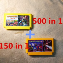 500 IN 1 +150 IN 1 8 bit FC60Pins Game Cartridge, Rockman 1 2 3 4 5 6, NinjaTurtles, Kirby's Adventure(China)
