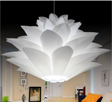 Lily Flower Pendant Light Material Of PVC 35/44/55CM Lotus Shape Fixture Pendent DIY Lampshade Bedroom / shops LED Hanging Lamp