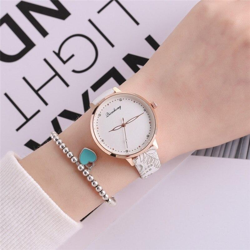 High Quality women fashion casual watch luxury dress ladies Leather Band Analog Quartz Round Wrist Watch clock bracelet M21 (20)