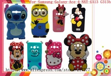 Minnie Stitch Cartoon Silicone Cover Case For Samsung Galaxy Ace 4 Lite G313 G313H Ace4 Neo G318H SM-G318H shell Back Cover