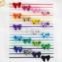 20colors Infantile Girl Mini Sequin Bows Headband Elastic Thin Headbands Little Girl Boutique Hair Bow Hairband  60pcs/lot