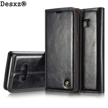 Buy Desxz Phone Case Samsung Galaxy S8 S8 Plus Retro Genuine Leather Flip Wallet Cover cases galaxy s8 Card holder for $10.54 in AliExpress store