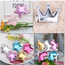 Cute Style Hair Accessories New Design Leather Shiny Star Head Accessories Girls Heart Crown Hairpins kids accessories Hair Clip(China)