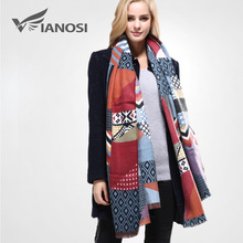 [VIANOSI] Newest Design Shawls and Scarves for Women Bandana Luxury Scarf Winter Brand Square Soft Cotton Scarf Woman VA096(China)