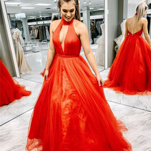 Mbcullyd Sexy Backless Prom Dresses 2019 Cute A Line Formal Evening Ladies  Dress Party Gowns Cheap 8dc72ce21029