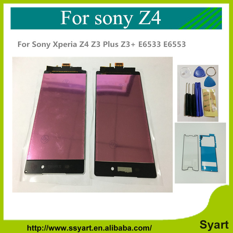 For Sony Xperia Z4 Z3 Plus Z3+ E6533 E6553 LCD Display Touch Screen with Digitizer Assembly + 2x Adhesive + Tools Free shipping<br><br>Aliexpress