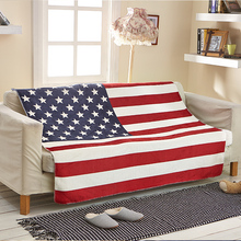 Cozzy Thicker Soft Warm Sherpa Fleece Couch Throw Blanket for Bed Sofa (USA American Flag) Child or Adult Size 70x100 130x160cm(China)