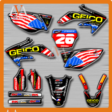 Customized Team Graphics & Backgrounds Decals 3M Stickers For HONDA CRF450R CRF450 R 2005 2006 2007 2008 05 06 07 08