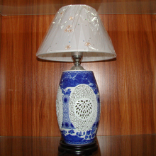 Jingdezhen Chinese Porcelain Ceramic Table Lamp vintage decorative bedside living room wedding table lamp retro table lamp