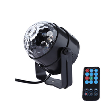 New generation LED Crystal Magic Ball 3W Mini RGB Stage Lighting Effect Lamp Bulb Party Disco Club DJ Light Show US/EU Plug(China)