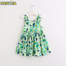 Menoea 2017 Brand New Summer Fashion Girls Dress Kids Clothes Sleeveless Floral Print for Girl Princess Dress 3-8Years Old Dress