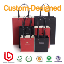 Paper Carrier Bags for every occasion Braided rope ribbon handle(China)