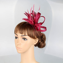 Multiple color select sinamay fascinator hair combs cute wedding race show hair accessories millinery cocktail headwear MYQ018(China)