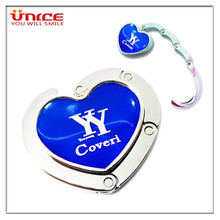 Wholesale Heart Shape Customized Promotion Souvenir Gifts Table Bag Hook Personalized Purse Hook Handbag Hanger Creative Gift(China)