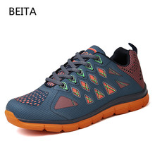 2017New Newest Running Shoes For Men Breathable Outdoor Sport trainers sneakers Summer Cushioning Male Shockproof Sole Sneakers