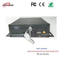 GPS 4CH mdvr dual SD cards on-board video recorders AHD720P monitor host passenger / truck / ship