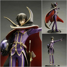 Free Shipping Anime Code Geass R2 Lelouch Lamperouge Zero 1/8 PVC Action Figure Collection Model Toys 23cm(China)