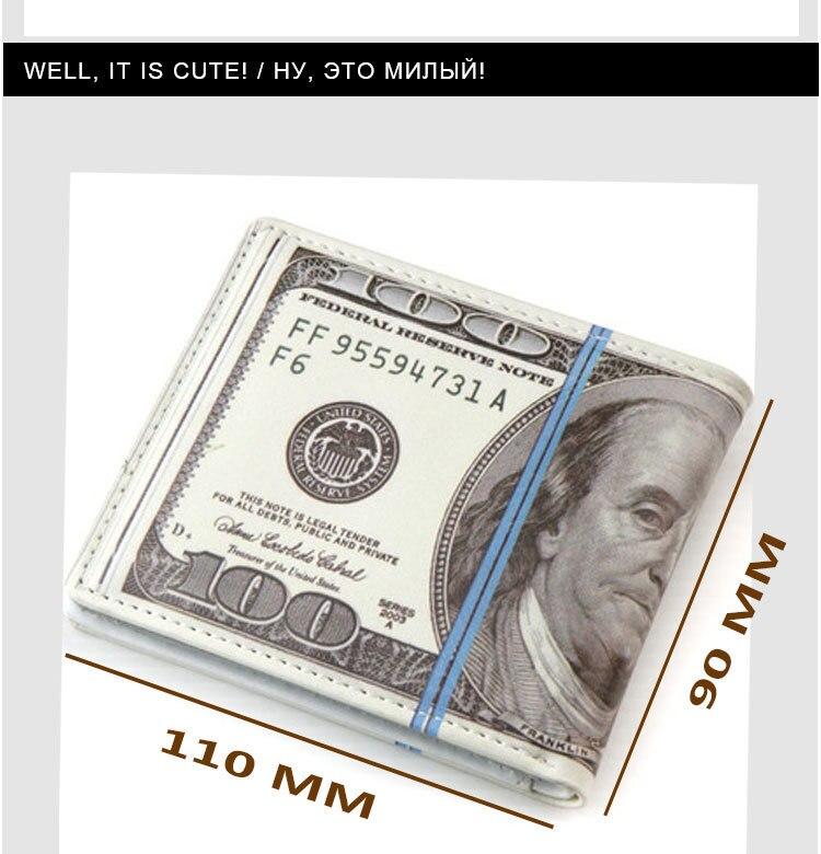 Cute 100 US Dollar Wallet Male Men/'s Women Coin Pouch Money Purse Novelty Gift