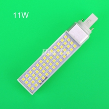 5pcs Energy efficient Table lampada LED 11W Horizontal Plug Light G23 E27 G24 SMD5050 corn Bulb AC 85-265 Super bright Candle(China)