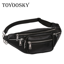 TOYOOSKY Crossbody Bags for Men Women Retro PU Leather Military Messenger Chest Bag Shoulder Belt Bag Large Capacity Handbag(China)