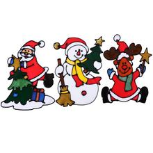 Silicone Christmas Stickers Large Window Glass Door Wall Stickers Christmas Ornaments Party Decorations for Home(China)