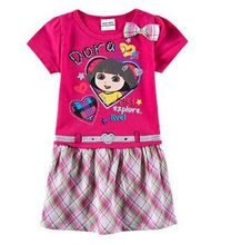 Kid dresses for children girls dora rose red kid wear,baby dresses up for children girls,vestidos infantis de birthday clothes