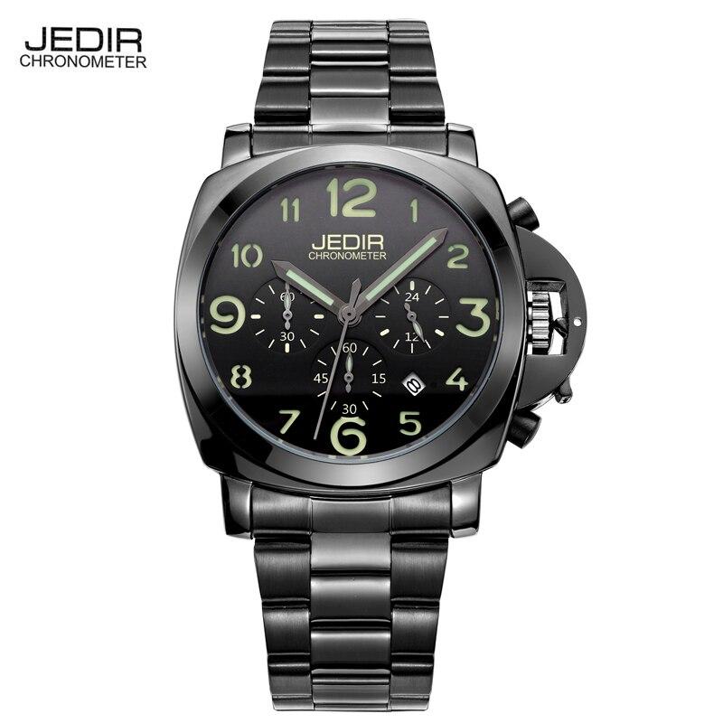 JEDIR Watches Men 2017 Sports Quartz Watch Chronograph Luminous Watch Leather Military Watches Luxury Brand Male Clock Koi Saat<br><br>Aliexpress